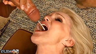 Nice mature gets fucked by mad latino guy and ready to eat warm cum at her house