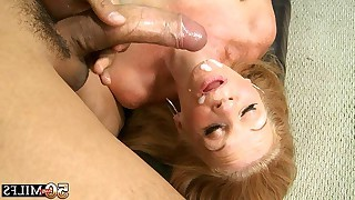 Blonde mature strokes later on she bend over and..