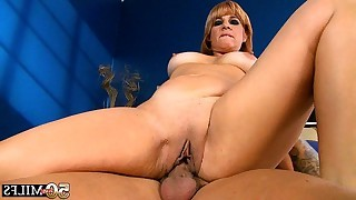 Mature with real tits strokes man tool later she..