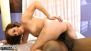 After love games old milf jumping on top of black penis like experienced cowgirl