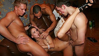 Group sex loving bitches fucked in great orgy scenes