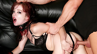 Teen Slave Loves Licking The Luscious Asshole Of Her Master