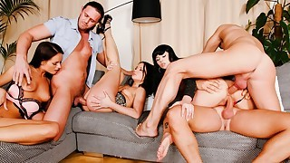 Orgy! Naughty Girls Getting Their Asses & Pussies Fucked!