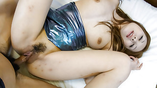Hiromi enjoys having her big tits squeezed before she has her mouth and pussy filled with hard meat
