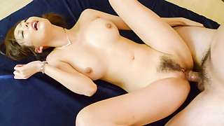 Akari Asagiri has both her holes filled as her big tits swing and sway
