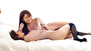 Luscious Nao and a girlfriend share sensual..