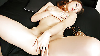 Gorgeous and horny Sakura Hirota plays with her..