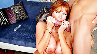 Beautiful Red Hair MILF Enjoying Licking This..