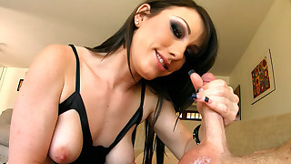 Porn beauty loves getting loads of cum on her..