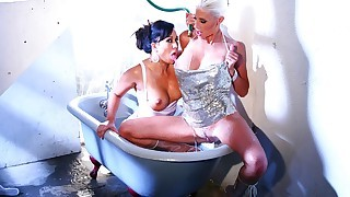 Hot lesbians get wet and horny as they finger and eat pussy