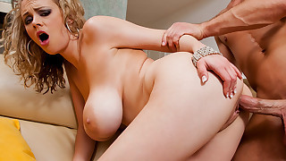 Katie Kox bounces her HUGE tits while riding dick