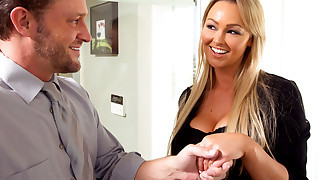 Busty blonde MILF gets her bills paid by fucking her sugar daddy
