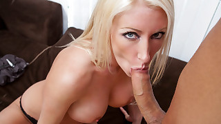 Sexy blonde babe gets fucked hard