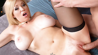 Hot blonde MILF Charlee Chase has hot sex with younger cock
