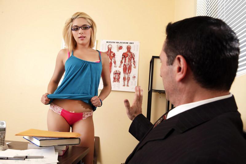Blonde has sex teacher sexy commit error