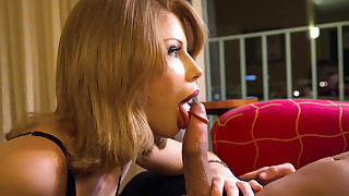 Brooklyn Lee has hot sex with her big cocked..