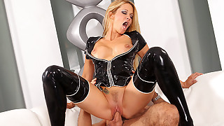 Latex wearing cocks plug great pussies for the perfect pleasures