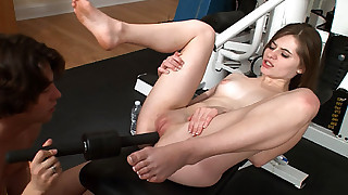Bizarre pussy fucking session is on for naughty Alice March