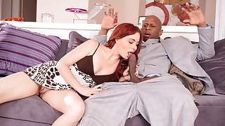 Naughty step-daughter fucking big black cock in this scene