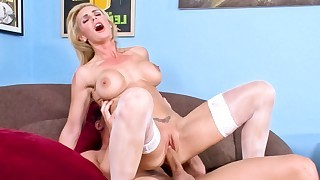 Tanya hears about her daughters bf's cock and..