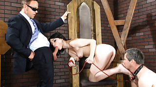 A slave watches his mistress Veruca being fuck..