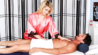 Caprice Capone and Tommy Gunn Magic Hands Cumshot Massage