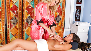 Jayden Lee gets the XXX full body treatment from Julia Ann.