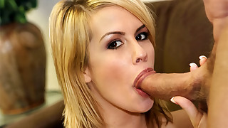 She guzzles his jizz to the last drop after..