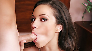 College Girl Goes Nasty On A Boy's Dick With Her Wet Mouth!