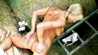 Sexy Silvia Saint gets horny and wet alone in a..