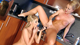 Silvia & Anetta Keys Having Wild Lesbian Sex In..