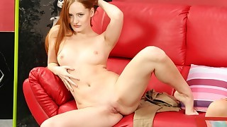Beautiful redhead talks with Silvia and then she..