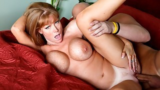 Christan fucks his wife's horny and busty best friend.