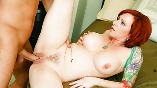 Mature redhead is having straight sex with young guy!!! HD