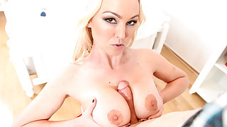 A lucky cock fucked in POV by Abbey Brooks big..