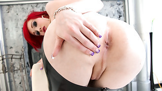 Sarina Valentina strips and masturbates by the fireplace !