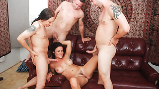 Horny divorced MILF has craving for a solid gang banging !