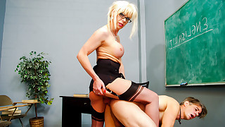Joanna Jet's Dirty Student Punished By Her Big..