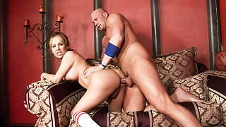 Lucky Christian XXX gets to pound hard Celeste's tranny ass