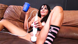 Lovable slut Cytherea is masturbating her kitty