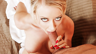 Gorgeous Victoria Red gives hot massage then..