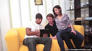 Interracial DP sex party
