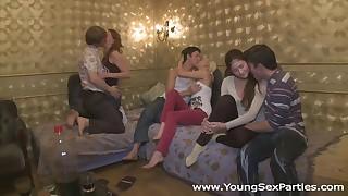 Winter break sex party in a dormitory